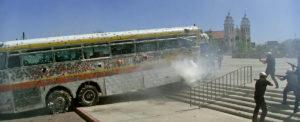 バスの銃撃シーン